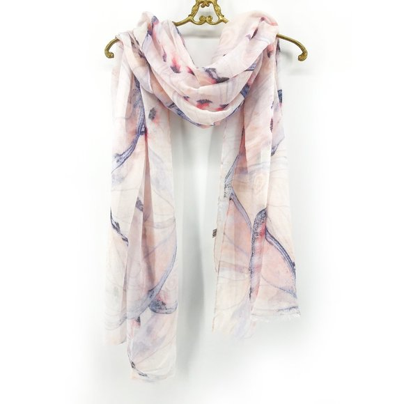 Abstract Butterfly Print Lightweight Scarf Wrap